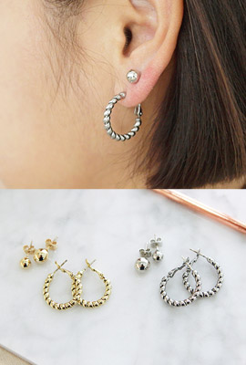 Twobuckle earrings