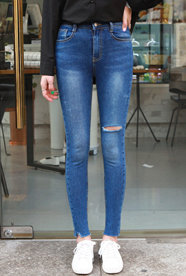 Unique Washing Skinny Jean