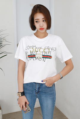 Trendy Lettering Short Sleeve Tee