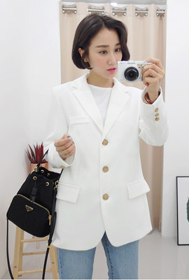 Modern three button plain jacket