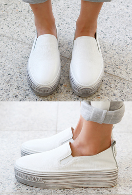 Vintage Leather Slip-On