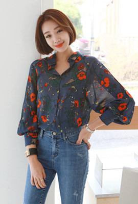 Leggreen Flower Blouse